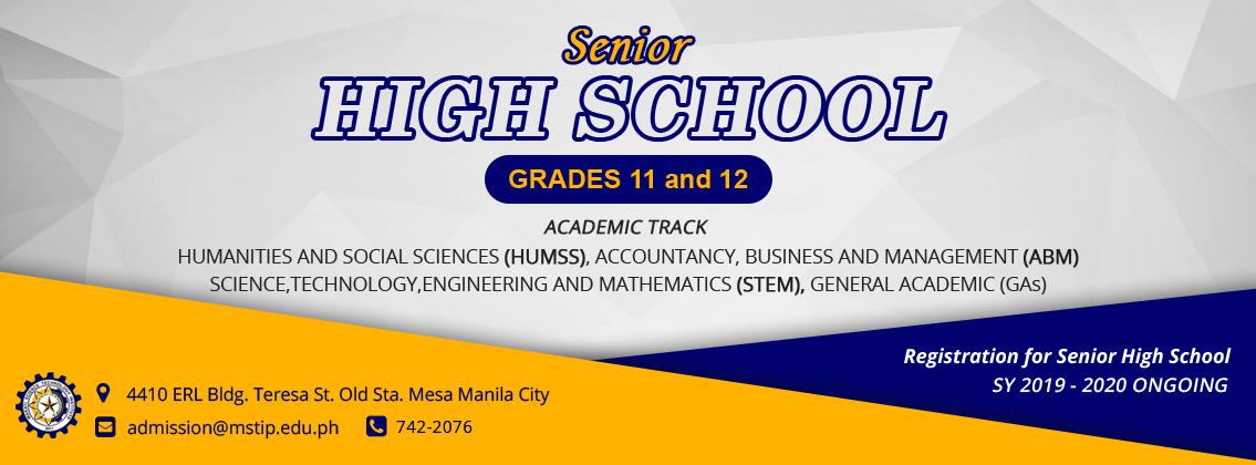 Banner for Senior High School Promo Academic Track Banner