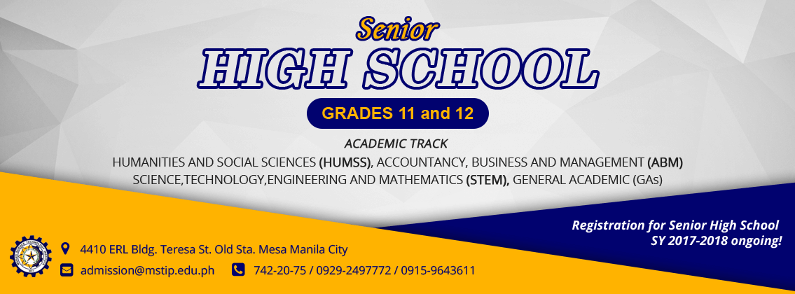 Banner for Senior High School Promo Academic Track Banner