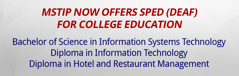 Banner for SPED (DEAF) FOR COLLEGE EDUCATION